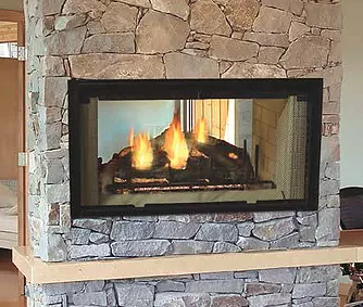 Designer Series See-Thru Wood Burning Fireplace