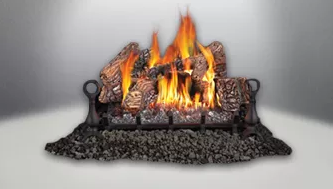 Fiberglow Gas Log Set Fireplace Insert