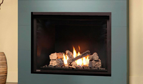 H Series - Flush Face - Logs Fireplace