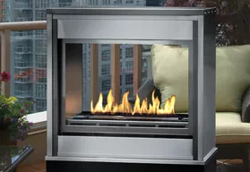 H Series See-Thru - Outdoor Ventless Fireplace