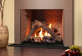 H36PV - Flush To The Floor - Logs Fireplace