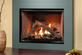 HW Series - Flush Face - Large Log Set Fireplace