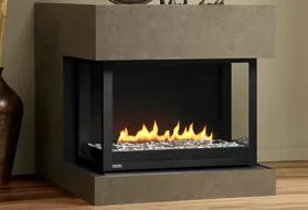 Panorama - H Series Logs & HL Series Glass Stones Fireplace