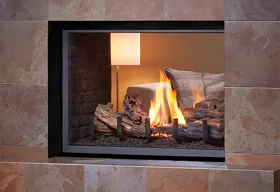 See Through - H Series Logs Fireplace
