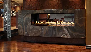 See Through - R Series Glass Stones Fireplace
